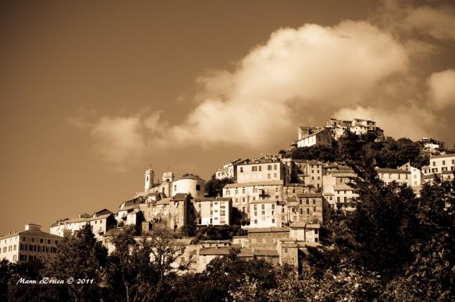 Village d'Oletta Sépia...